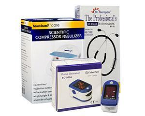 Oxymeter, Stethoscope & Nebulizer