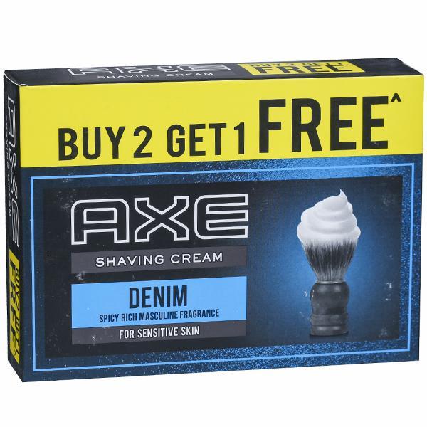 Axe Signature Denim Shaving Cream (Buy 2 Get 1 Free) 3 x 78 g