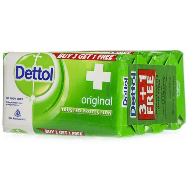 Dettol Original Soap (Buy 3 Get 1 Free) 4 x 75 g