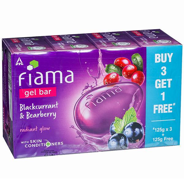 Fiama Blackcurrant & Bearberry Radiant Glow Gel Bar (Buy 3 Get 1 Free) 4 x 125 g