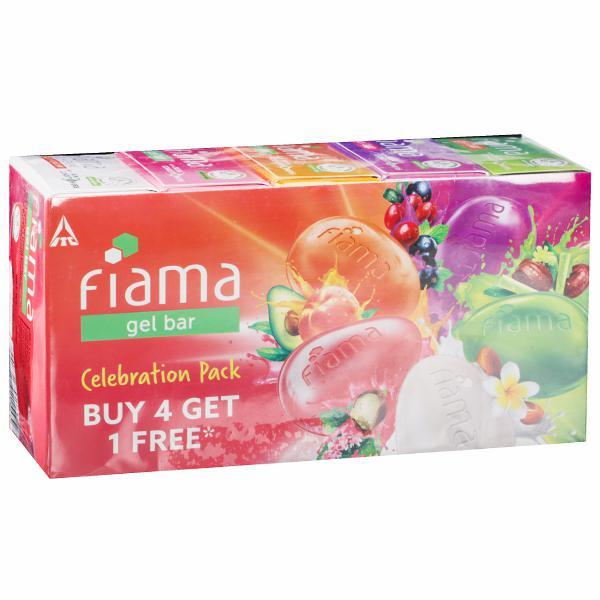 Fiama Celebration Pack Gel Bar (Buy 4 Get 1 Free) 5 x 125 g