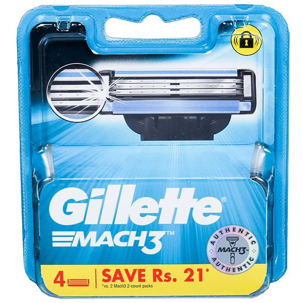 Gillette Mach 3 Cartridges (Save Rs. 21) Pack Of 4