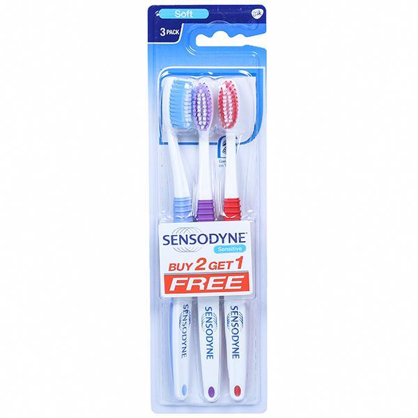 Sensodyne Sensitive Soft Toothbrush (Buy 2 Get 1 Free) Pack Of 3