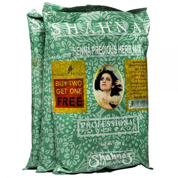 Shahnaz Husain Henna Precious Herb Mix (Buy 2 Get 1 Free) 3 x 200 g