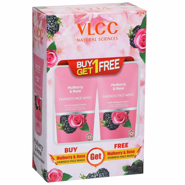 Vlcc Mulberry & Rose Fairness Face Wash (Buy 1 Get 1 Free) 2 x 150 ml